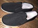 夢兮 老北京男布鞋 傳統千層膠底黑色單鞋 上班休閑工作鞋相巾老人鞋 黑色 42 實拍圖