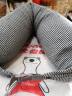 北極絨(Bejirong)U型枕頭護頸枕頸椎枕 汽車飛機旅行頭枕 午睡枕頭u型靠枕 黑灰色 實拍圖