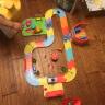 益米 兒童男孩玩具 DIY軌道組合 小火車頭套裝賽車軌道汽車 82PCS 實拍圖