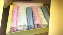 全棉時代嬰兒浴巾嬰兒紗布浴巾新生兒寶寶浴巾+水洗紗布手帕組合裝 粉色 95*95cm 實拍圖