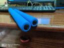 杜威克 安全海綿雙節棍新手練習教學雙截棍兒童小學生中考跳繩女土練習安全泡綿二節棍 兒童型 藍色  送跳繩 實拍圖
