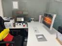 NB 加粗顯示器支架 桌面底座旋轉升降液晶自營電腦顯示器支架臂 增高電腦升降架 22-35英寸 F100A 白 實拍圖