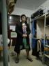 黑優 中式唐裝漢服中國風男裝立領長袖古裝復古男式風衣假兩件外套春秋中山裝 黑色(FY07款) M建議體重90-115斤 實拍圖