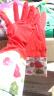 碩基 SUOTJIF 紅色 洗車加絨防水手套  冬季手套防水洗車 防水洗衣家務洗碗 洗車家用洗菜專用橡膠加厚手套 實拍圖