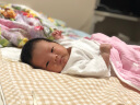 良良(liangliang) 嬰兒涼席 夏季亞麻嬰兒床苧麻幼兒園寶寶兒童加大涼席 方格咖 110*60cm(小號) 實拍圖