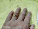 周大福(CHOW TAI FOOK)禮物 心心相守 足金黃金戒指 F217475 48 約2克 實拍圖