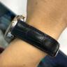 真皮表帶 男 小牛皮薄柔軟皮帶 女士針扣手表鏈 18mm20手表配件 黑色 18MM 實拍圖