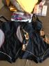 范德安(BALNEAIRE) 游泳衣女 運動平角修身連體泳衣 女保守顯瘦遮肚大碼泳衣 黑色古典風格印花 M 實拍圖