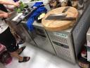 菱蒙(LnMng)商用保鮮工作臺冷藏冷凍操作臺冰柜水吧臺廚房不銹鋼臥式冷柜 1.5m*0.8m*0.8m(冷凍) 銅管 實拍圖