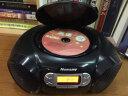 紐曼CD學習機CD-H180 學生光盤復讀機 英語教學用轉錄收錄音機教學機 mp3播放器手提音響便攜音箱 黑色 實拍圖