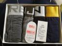 南極人男士冰絲內褲男平角內褲中腰舒適透氣u凸4條禮盒裝 金色寬邊款XL(175/100) 實拍圖