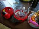 美之扣 手動絞肉機手搖粉碎機器包餃子機手動碎菜家用多功能切菜器 紅色有底座1.5L 實拍圖
