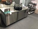 菱蒙(LnMng)商用保鮮工作臺冷藏冷凍操作臺冰柜水吧臺廚房不銹鋼臥式冷柜 1.8m*0.8m*0.8m(冷凍) 銅管 實拍圖