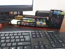 得力(deli)金屬網紋方形筆筒 辦公桌面收納盒 黑色 實拍圖