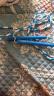 普為特POVIT 兒童竹節跳繩成人健身減肥中小學生考試專用可調節花樣跳繩幼兒園訓練珠節繩 P-1263(藍白) 實拍圖