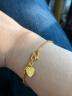 周生生 黃金手鏈足金側身水波紋手鏈黃金手鏈 結婚 賀禮 09240B 計價 17厘米 - 3.21克(折后工費84元) 實拍圖