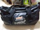 LOBOO蘿卜摩托車后尾包防水騎士裝備包摩旅騎行后座包行李包駝包 66升黑色+快拆綁帶 均碼 實拍圖