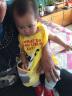 南極人(Nanjiren)寶寶吃飯罩衣嬰兒圍兜卡通兒童防水畫畫反穿衣 黃色熊貓 適合0-3歲 實拍圖