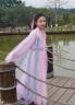 三生兒童三世十里桃花白淺cos款兒童古裝演出服女仙女服裝漢服zhP 粉紅色 150cm 實拍圖