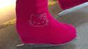 【飛格瑞】彩色冰鞋套 燙鉆花樣冰刀鞋保護套 加厚彈力大 避免花樣滑冰鞋劃傷 玫粉色(鑲鉆) M 實拍圖