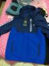諾詩蘭童裝 兒童 中大童三合一沖鋒衣 男童女童戶外登山服 CO060075 深寶藍CO060075-1 160 實拍圖
