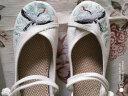 古風鞋子女漢服鞋學生復古中國風古裝布鞋女繡花鞋坡跟漢鞋Y 盤扣白色仙鶴 36 實拍圖