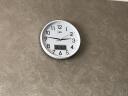 康巴絲(Compas)掛鐘 創意時尚時鐘 靜音日歷石英鐘客廳臥室掛表c2855Y 白色 實拍圖