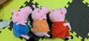 小豬佩奇Peppa Pig正版粉紅小豬兒童玩具抱枕公仔佩佩喬治2只裝禮盒 毛絨玩具(佩佩30cm+喬治30cm) 實拍圖