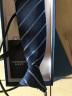 海派浩宇 拉鏈領帶男士8cm寬商務斜條紋易拉得懶人款禮盒裝 深藍條紋 實拍圖