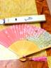 偉龍 扇子 古風真絲女扇 中國風折扇碎花女扇 特色創意禮品禮物送朋友 舞蹈扇 白骨櫻花 實拍圖