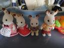 森貝兒家族兒童玩具女孩禮物過家家公主娃娃玩具公仔玩偶巧克力兔家族4150 實拍圖