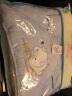 象寶寶(elepbaby)嬰兒抱被 新生兒多功能全棉針織包被90X90CM(可愛小豬藍色) 實拍圖