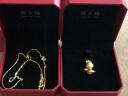 周大福 簡約 足金黃金項鏈(工費:138計價) F159797 足金 45cm 約3.60g 實拍圖