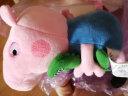 小豬佩奇(Peppa Pig)兒童毛絨玩具系列抱枕公仔男孩女孩玩偶 19cm喬治抱恐龍 實拍圖