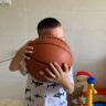 李寧 LI-NING CBA聯賽比賽籃球室內外PU材質成人兒童5號 藍球 445-1 實拍圖