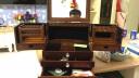 韓米琪 奢華高檔實木質首飾盒飾品收納盒項鏈戒指收藏展示盒多功能化妝梳妝盒情人節結婚生日禮物 雙開門 雙開門花蝴蝶首飾盒胡桃木色 實拍圖