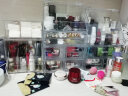 【2件8折】亞加麗加 透明防塵化妝品收納盒 大號有蓋桌面梳妝臺多層抽屜式收納柜 化妝首飾盒 豪華組合款 實拍圖
