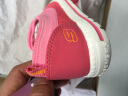 Skechers斯凱奇童鞋 時尚可愛女小童舒適透氣休閑鞋 松緊帶一腳套柔軟防滑學步鞋664043N 桃紅色/HPK 24碼/鞋內長14cm 實拍圖