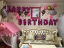 為伴 氣球 送寶寶兒童生日氣球裝飾套餐生日派對場景 生日布置禮物卡通鋁膜氣球套裝 生日快樂 粉色蛋糕陽光猴套餐 實拍圖