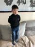 冰川熊(BINGCHUNXIONG) 童裝兒童毛衣秋冬男女童加絨加厚針織衫高領打底衫 5751黑色(加絨款) 吊牌14(建議身高110-120cm) 實拍圖