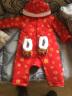 寶然 寶寶唐裝男女童棉衣棉服秋冬款嬰兒過年衣服新生兒拜年服加厚保暖連體衣5309 5309棉衣+帽子 80cm 實拍圖