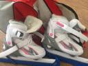 動感(ACTION) 動感ACTION速滑冰刀鞋成人滑冰男女兒童溜冰鞋真冰水冰鞋253B-17 粉白色 M(37-40) 實拍圖