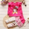 童裝男女童套裝春秋裝兒童寶寶衣服2019新款小童衛衣外套褲子三件套1-4歲小孩衣服 紅色 80碼(建議身高70cm左右) 實拍圖