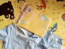 俞兆林(YUZHAOLIN) 童裝兒童短袖家居服男女童套裝中小童空調服小孩睡衣2件套 破色字母-淺藍 100CM 實拍圖