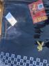 花花公子(PLAYBOY)羊毛呢大衣男 秋季男裝新款休閑修身男裝呢子大衣風衣外套男 藏青丨兔頭繡花 185/2XL 實拍圖