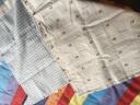 良良(liangliang) 嬰兒涼席 夏季亞麻嬰兒床苧麻寶寶兒童加大涼席  款式隨機發 藍色 125cm*74cm(大號) 實拍圖