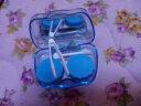 潔達 近視隱形眼鏡伴侶盒 雙聯盒 隱形眼鏡盒護理盒清洗器美瞳通用 A-022顏色隨機 實拍圖