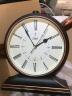 康巴絲(Compas)掛鐘古典歐式座鐘表復古靜音客廳裝飾臺鐘創意臥室床頭時鐘石英鐘 3020羅馬盤黑金 實拍圖