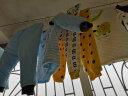 南極人(Nanjiren) 【14款可選】南極人嬰兒新生兒南極棉加厚保暖衣服套裝秋冬 肩扣-蘑菇小兔藍 90CM 實拍圖