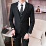 鱷魚恤   西服男2019新款西服套裝男三件套職業修身正裝新郎結婚禮服商務休閑西裝男外套西服 黑色-單西 XL(120-135斤) 實拍圖